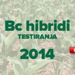 Rezultati pokusa s BC hibridima u 2014. godini